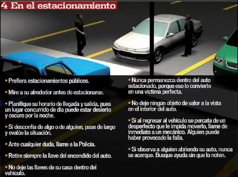 precauciones en los estacionamientos