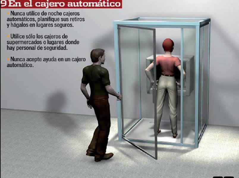 precauciones en el cajero