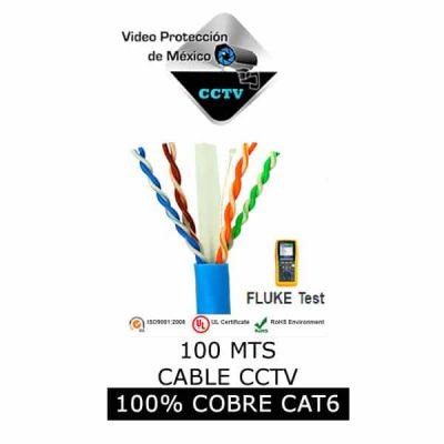 Cable UTP 100 mts azul 6e 100% cobre exterior