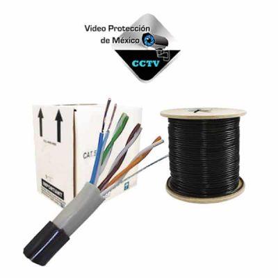 Cable UTP negro 5e 100% cobre exterior