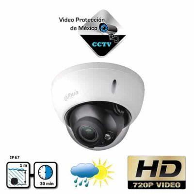 Camara Domo HDCVI 720p Varifocal Antivandalica blanca