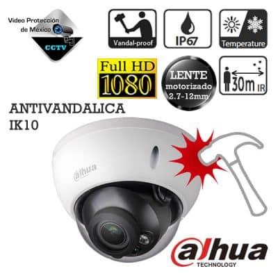 Cámara antivandálica domo 1080p lente varifocal