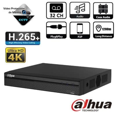 DVR 32 Canales 1080p IP 6MP H265+