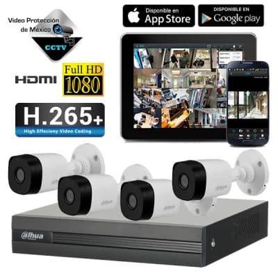 Kit 4 Cámaras 1080p DVR H265