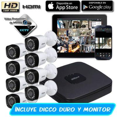 Paquete 8 Cámaras 720p con dd y monitor