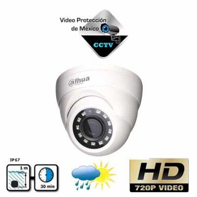 cámara domo HDCVI 720p 28mm Blanca