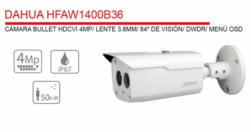 descripción cámara vigilancia 4mp 36mm