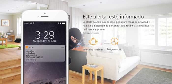 camara wifi domo inalambrica imou con alertas
