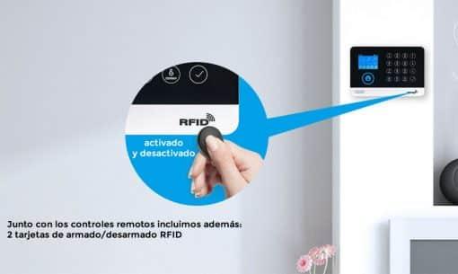 funciones de control alarma RFID