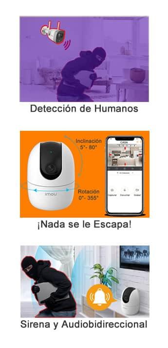Funciones de una cámara WiFi