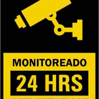 letrero de cámara de vigilancia