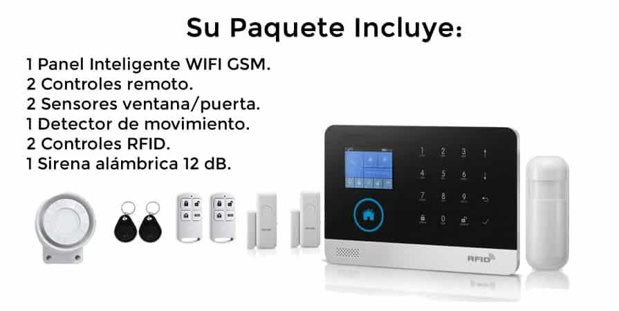 paquete alarma wifi gsm 3g